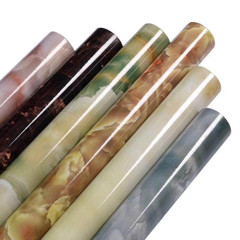 10M Waterproof Marble Wallpaper Vinyl Self Adhesive Film Living Room Wall Decor Kitchen Cabinets Desktop Drawer Contact Paper