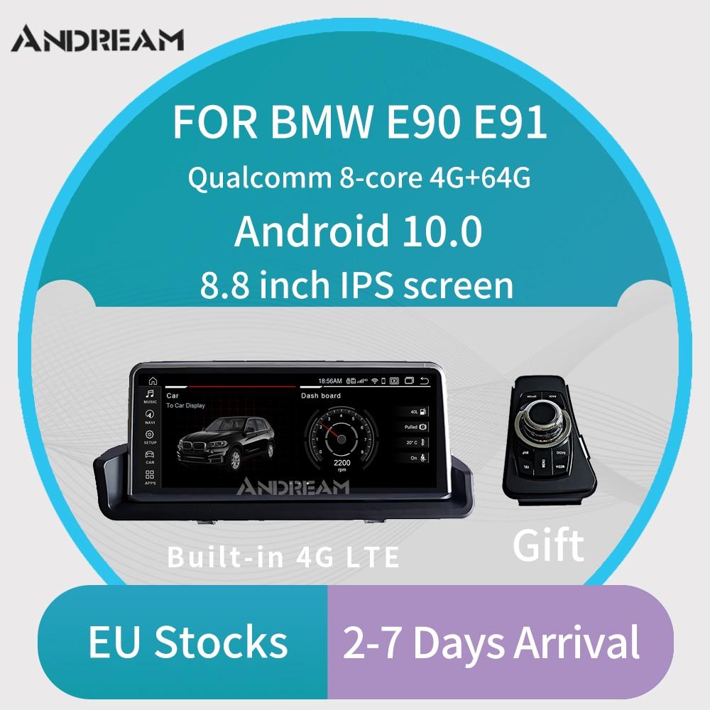 "8.8"" Android 10.0 Car GPS Navigation Multimedia Player Radio For BMW Series 3 E90 E91 E92 without Original Screen Qualcomm core"