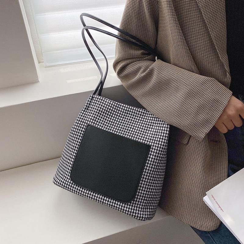 Lujosos bolsos de mano para mujer, bolsa de lana de diseñador, Diseño de Bolso tela cómoda, bandolera de un solo hombro, Grand Sac Femme