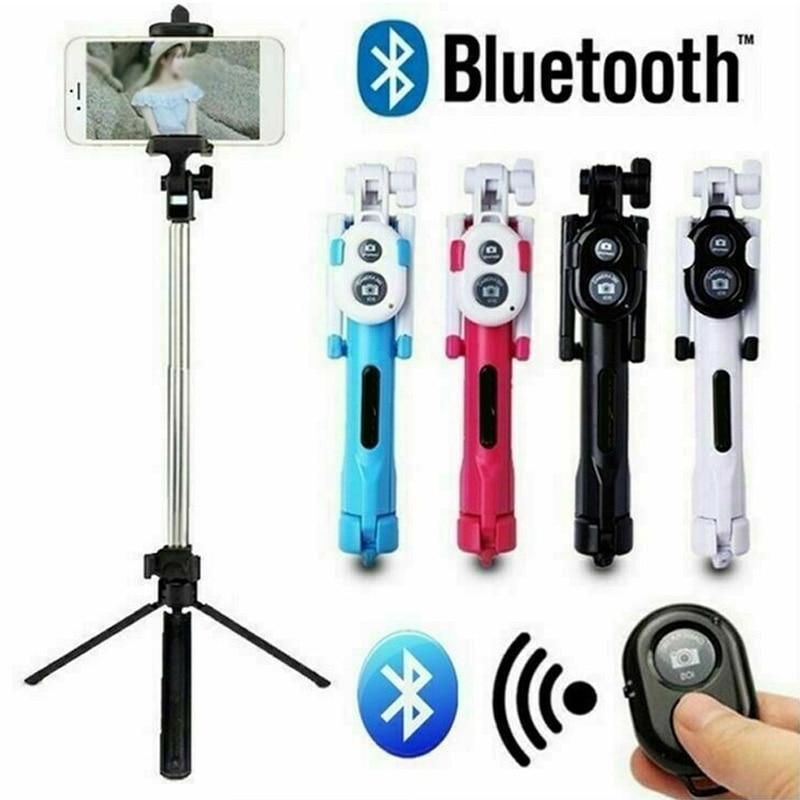 Универсальный складной Bluetooth селфи палка беспроводной пульт дистанционного управления штатив выдвижной монопод для iPhone huawei Andriod