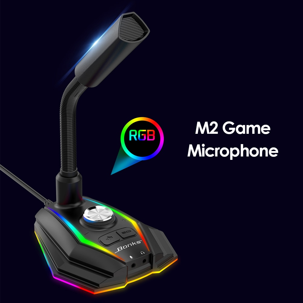 Desktop Microphone Portable USB Desktop with Stand for Recording Gaming Streaming Business Conference Podcast Mic