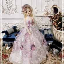 Accesorios de muñeca de vestido de encaje Wisteria para muñecas BJD de 1/3 60 cm-sin muñeca