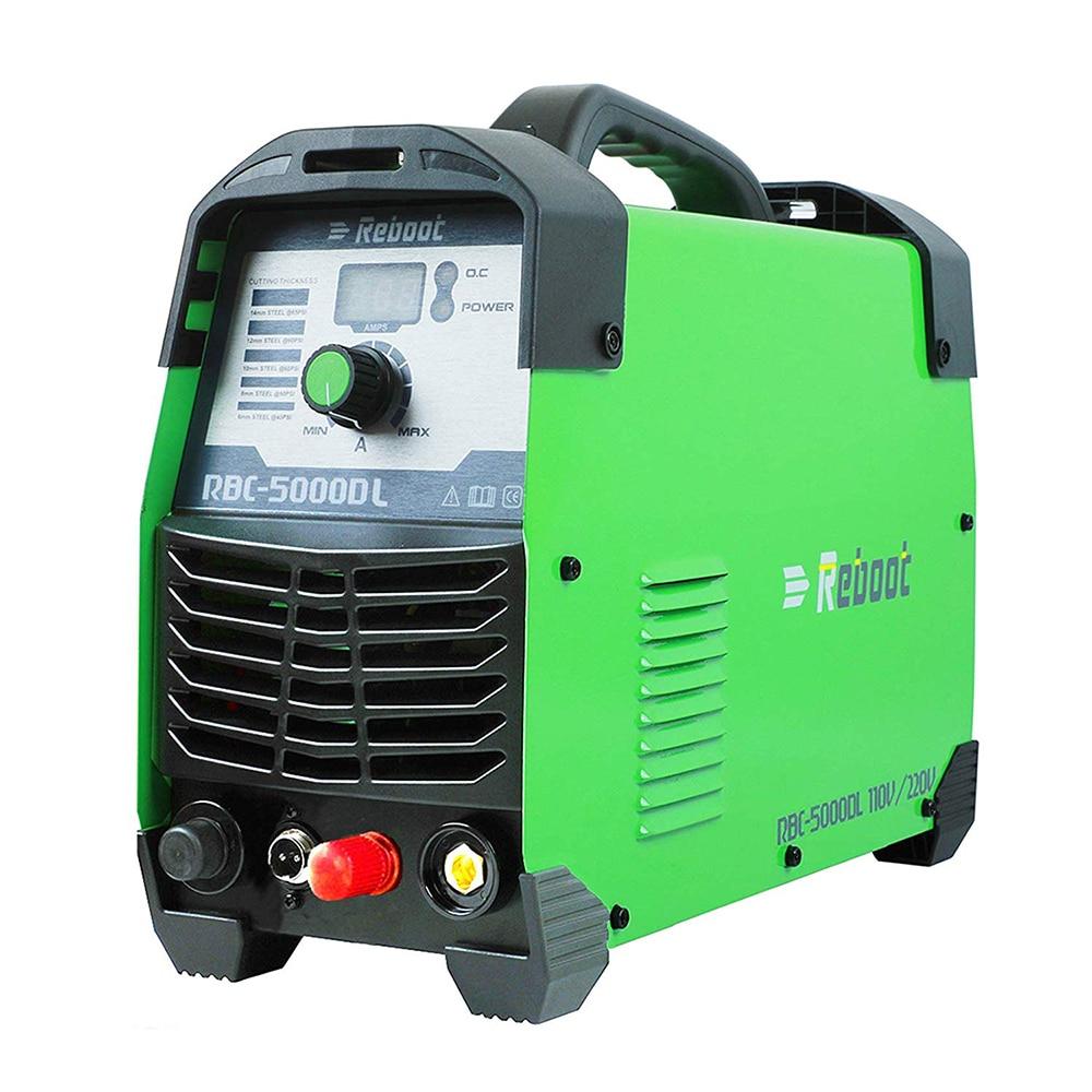 "Plasma Cutter CUT 50Amp Pilot Arc Non Touch 110/220V IGBT Air Plasma Cutting Machine Dual Volt HF Cutter Inverter 1/2"" Clean Cut"
