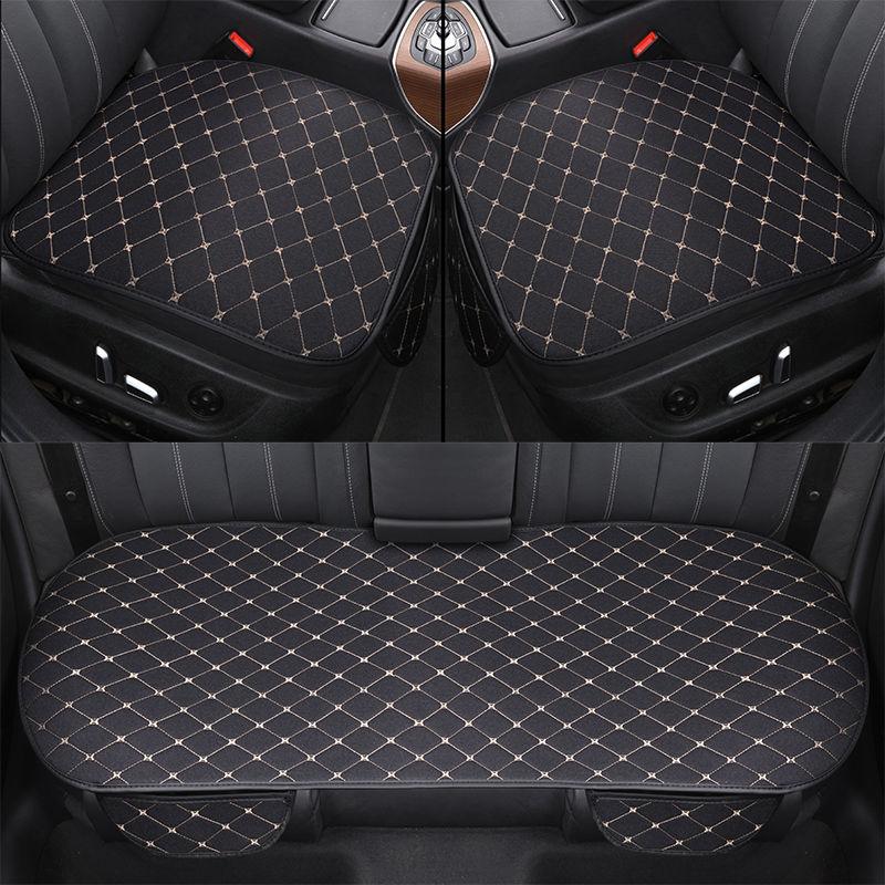 Чехлы на автомобильные сиденья, всесезонные льняные накидки на передние и задние сиденья