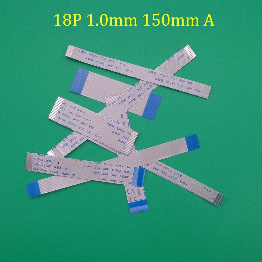 10 Uds nuevo FFC FPC 18pin plana cable flexible 0,5mm Longitud de avance de 150mm 200mm 300mm 400mm 60mm 250mm cinta 18p Flex Cable