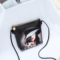 2021 fashion shoulder messenger small bag trend personality printed small square bag pu ladies bag