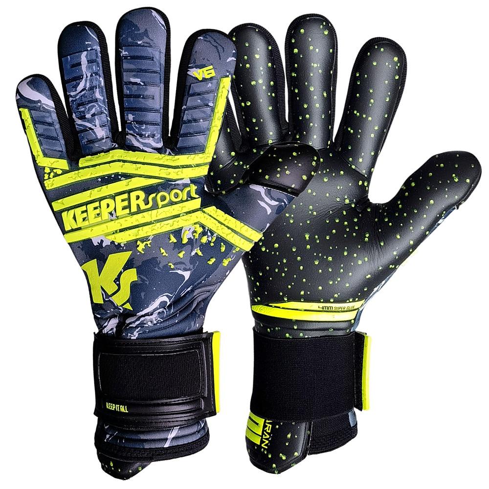 Luxury Soccer Goalkeeper Gloves Professional Goalkeeper Gloves Thickened Latex Non-Slip Wear-Resistant Glove Men Luva De Goleiro