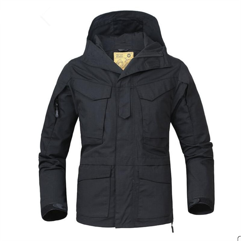 Chaqueta de otoño para hombre abrigo informal impermeable a prueba de viento chaqueta militar para hombre Abrigo con capucha transpirable ropa táctica