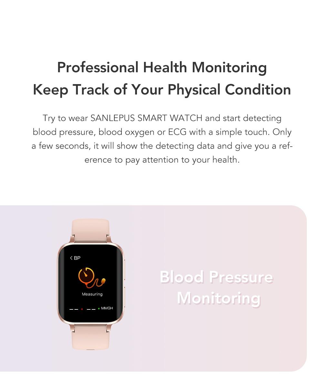 Hf2bf5ce3c2bc4ddc91270a7e45e950f7A SANLEPUS 2021 NEW Dial Calls Smart Watch Men Women Waterproof Smartwatch MP3 Player For OPPO Android Apple Xiaomi Huawei