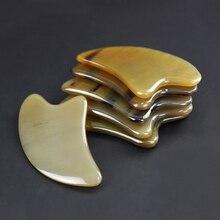 Natural Authentic Horns Guasha Facial Massage Meridian Gua sha Scraper Beauty Spa Lose Weight Massag