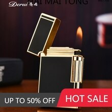 New Bussiness Gas Lighter Compact Jet Butane Metal PING Bright Sound Cigar Cigarette Lighter Inflate