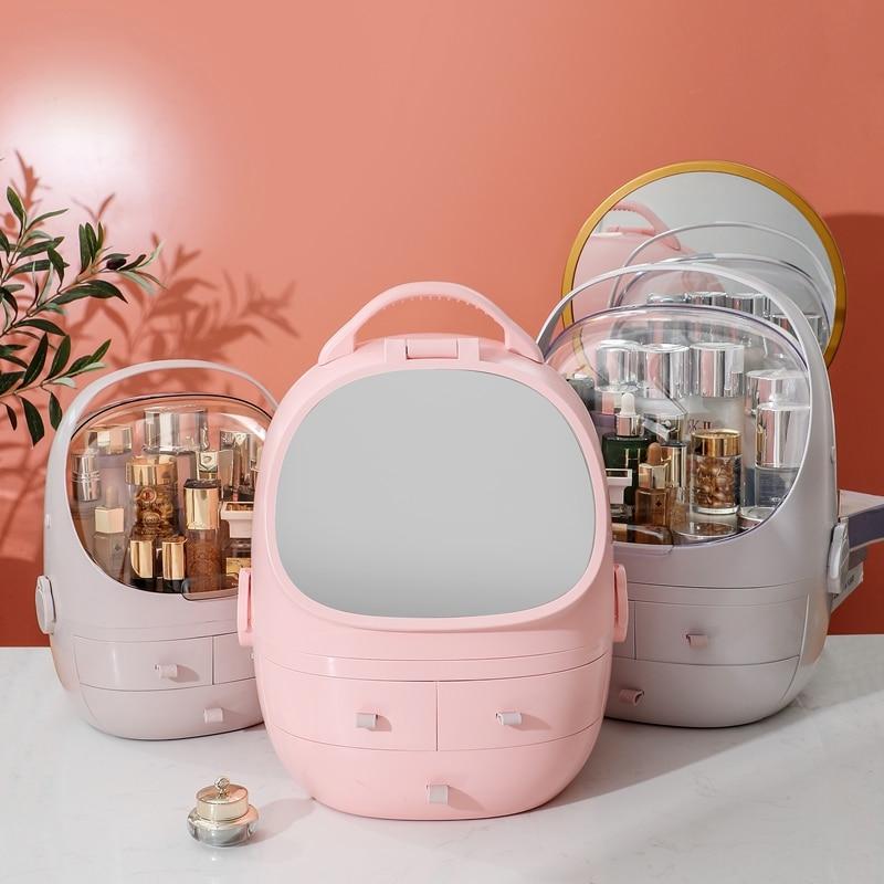 السيدات مستحضرات التجميل صندوق تخزين المحمولة منتج العناية بالبشرة صندوق تخزين ultifunction صندوق تخزين درج نوع ماكياج المنظم