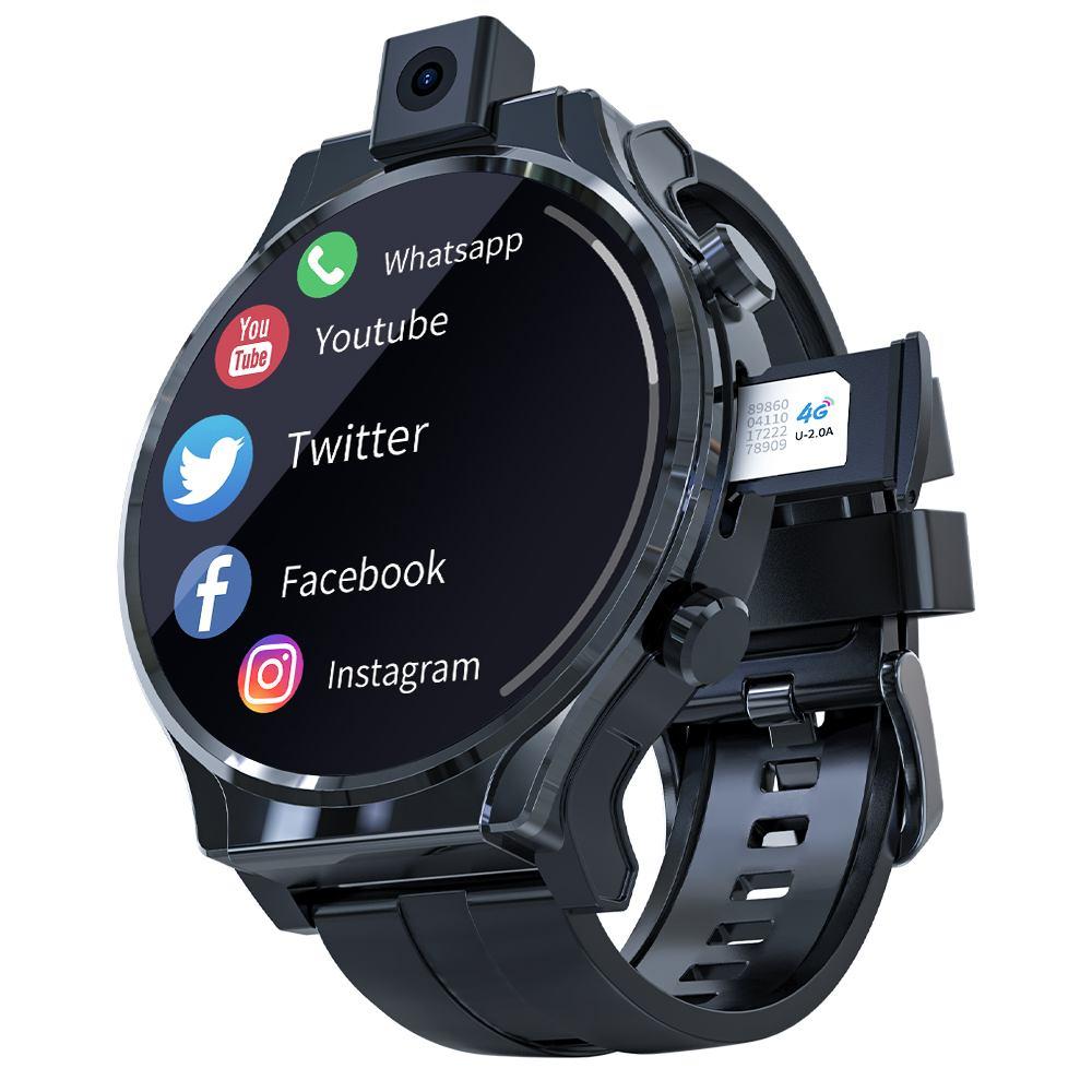 Get LOKMAT APPLLP PRO Smart Watch Phone 4G Full Netcom Smart Watch 2.1 inch Full Touch Screen Face unlock WIFI SIM Card GPS 1600mAh