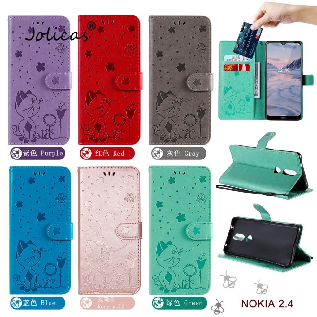 Lujosa funda para teléfono inteligente para Nokia 1 Plus, Cartera de cuero...