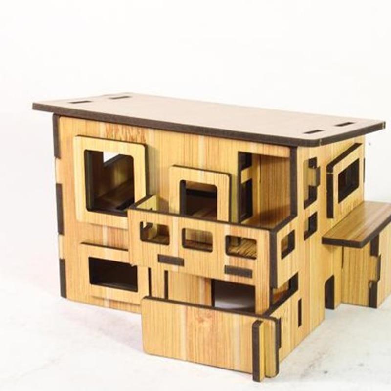 3D Jigsaw Puzzle Brinquedos Inteligência Enigma Brinquedo de Madeira Quebra-cabeças Educativos Para Crianças de Alta qualidade Crianças DIY Casa
