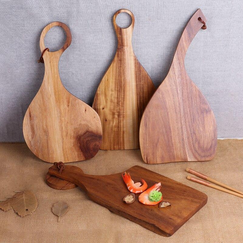 لوح تقطيع خشبي غير منتظم ، لوح تقطيع من الخشب بالكامل ، لوح خبز ، طبق سوشي ، صينية خشبية حقيقية ، لوح تقطيع البيتزا