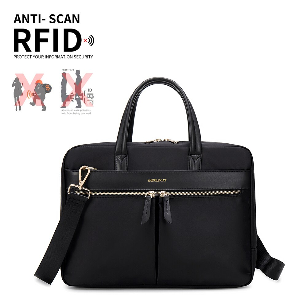 Anti-Theft Women's Laptop Briefcase Computer Bag Business Document Organizer Tote Handbag Messenger