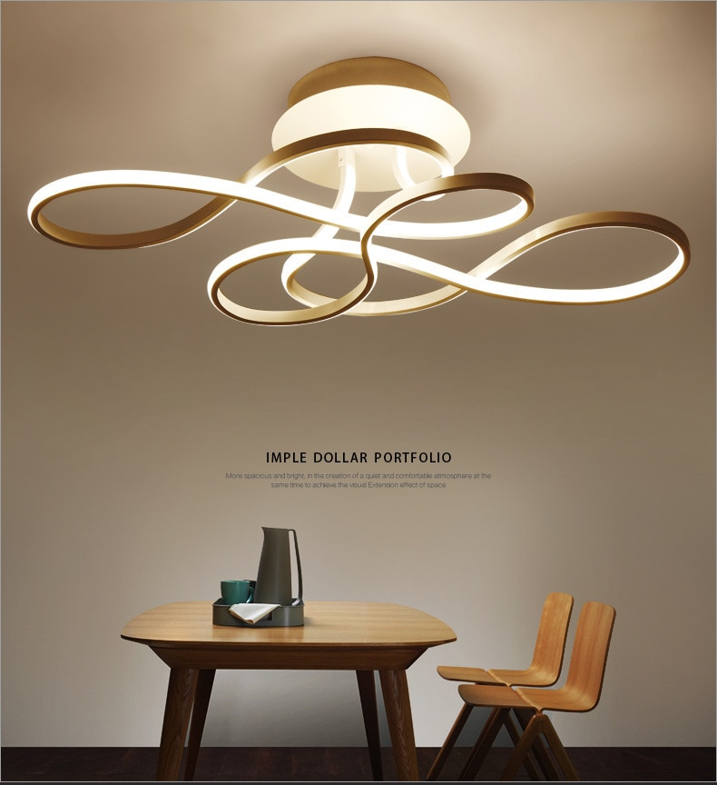 3 Colors Dimmable Modern LED Flower Ceiling Lights for Living Room Office Study Bedroom with Remote Control Home Lamp Fixtures enlarge