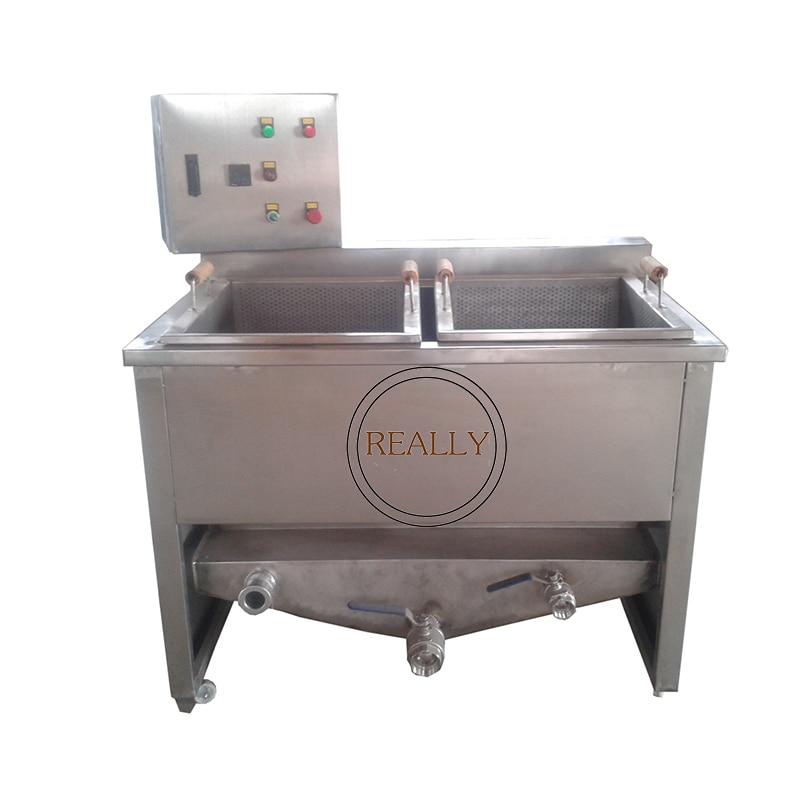 Freidora de pollo frita de acero inoxidable comercial de 1000kg