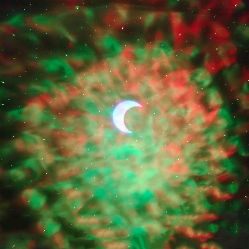 Q0KF-جهاز عرض led مع صورة السماء المرصعة بالنجوم ، 6 ألوان ، أمواج المحيط