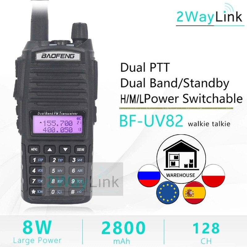 BaoFeng UV-82 Walkie-Talkie 8 Watt U/V Baofeng UV 82 Headset Walkie Talkie 10 KM Baofeng UV82 8 W Radios uv 9r ham radio 10 KM