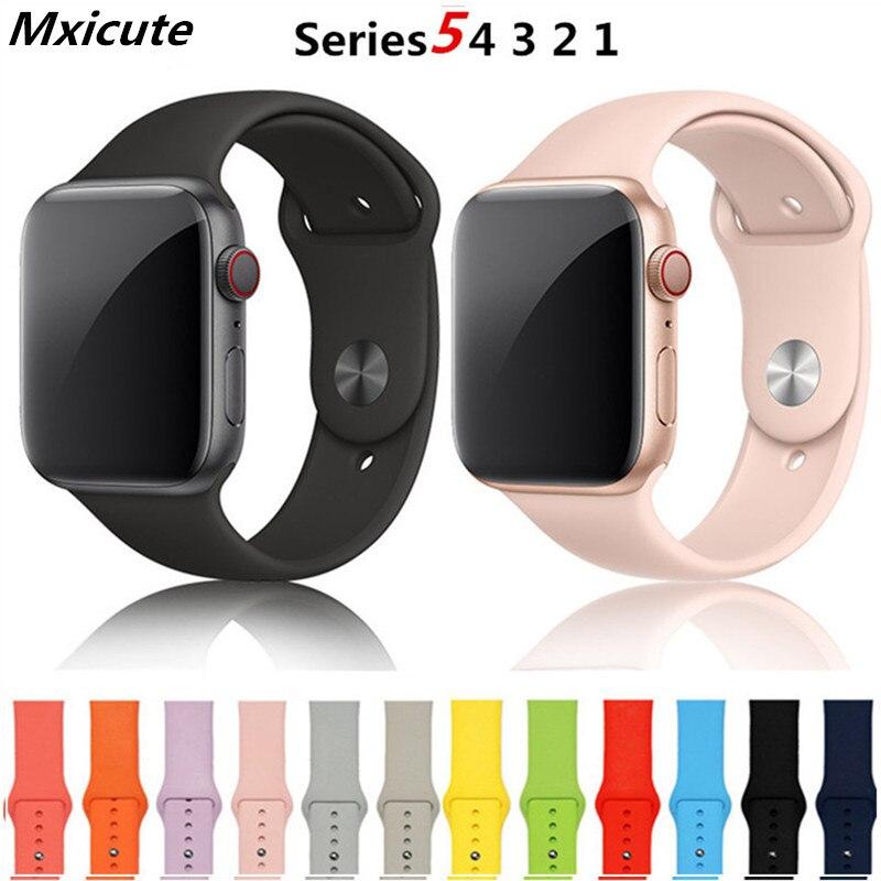 Correa apple watch banda 38mm 42mm iwatch banda 40mm 44mm deporte lazo pulsera de goma correa de reloj de apple watch 5 4 3 2 banda
