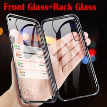 Magnetic Case For Huawei P20 P30 Pro P Smart Z 2019 Y9 Prime Mate 10 20 30 Pro Honor 10 Lite Nova 3e 5i 360 Tempered Glass Cover