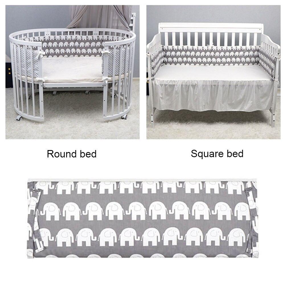 Parachoques de cama para niños pequeños, cómodos accesorios para dormir para recién nacidos, Protector de cuna suave para dormitorio, cojines, cerca para cuna