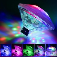 Плавающий подводный RGB-светильник, аксессуары для бассейна, светодиодное освещение для спа, ПОГРУЖНОЙ водонепроницаемый светодиодный свет...