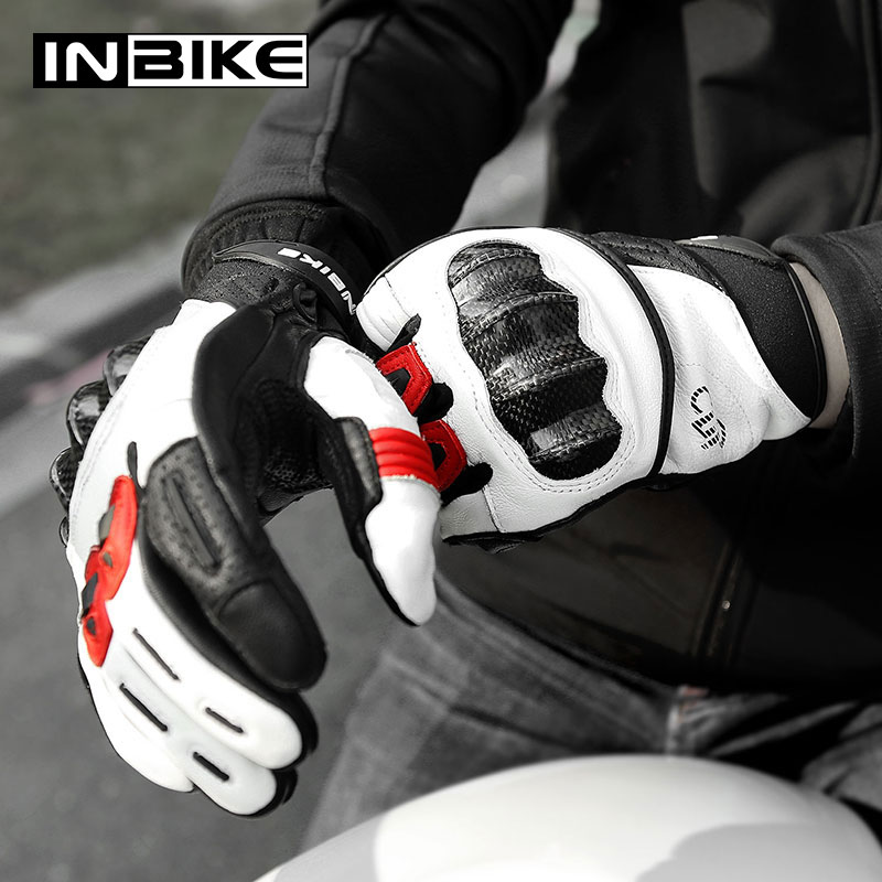 Guantes de Moto de piel auténtica INBIKE, Guantes Térmicos de invierno para hombre, Guantes para bicicleta MTB, pantalla táctil de 3mm, almohadilla de Palma EVA, Guantes para Moto Luvas