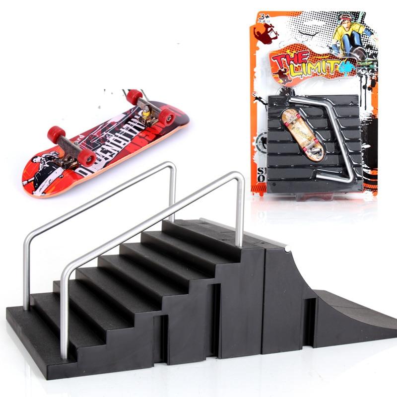 Скейтборд с пальцами и скутер, набор для пальцевого скейта, технология, для помещений, для пальцевого скейта, тренировочный реквизит