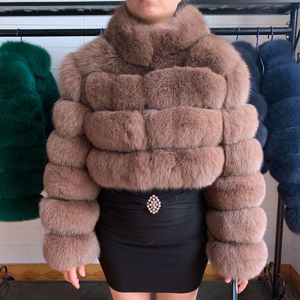 2020 Real Fur Coat 100% Natural Winter Women's Fur Jacket Warm Fox Fur Coat High Quality Fur Vest Free Shipping