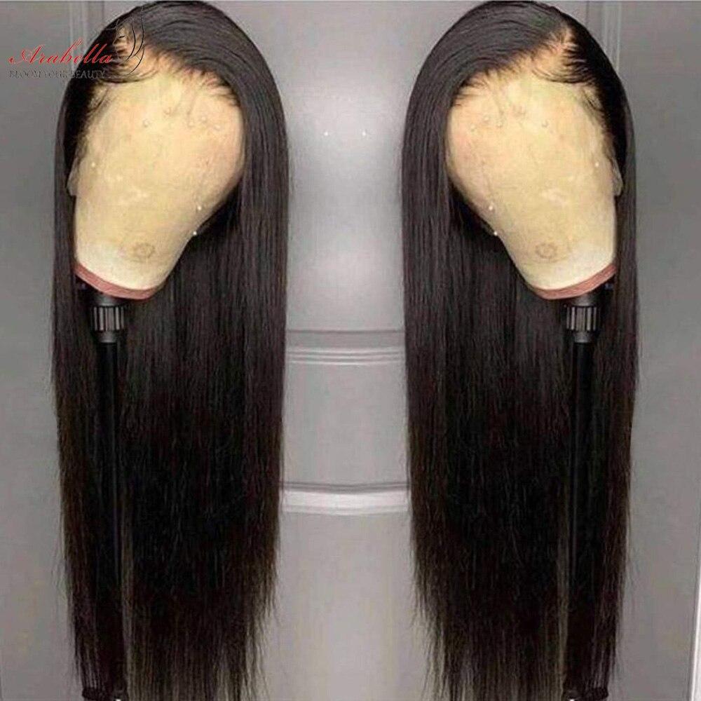 Arabella Malasia 360 peluca con malla Frontal con pelo de bebé cabello negro Natural 100% peluca Frontal de encaje Remy pelucas de cabello humano recto