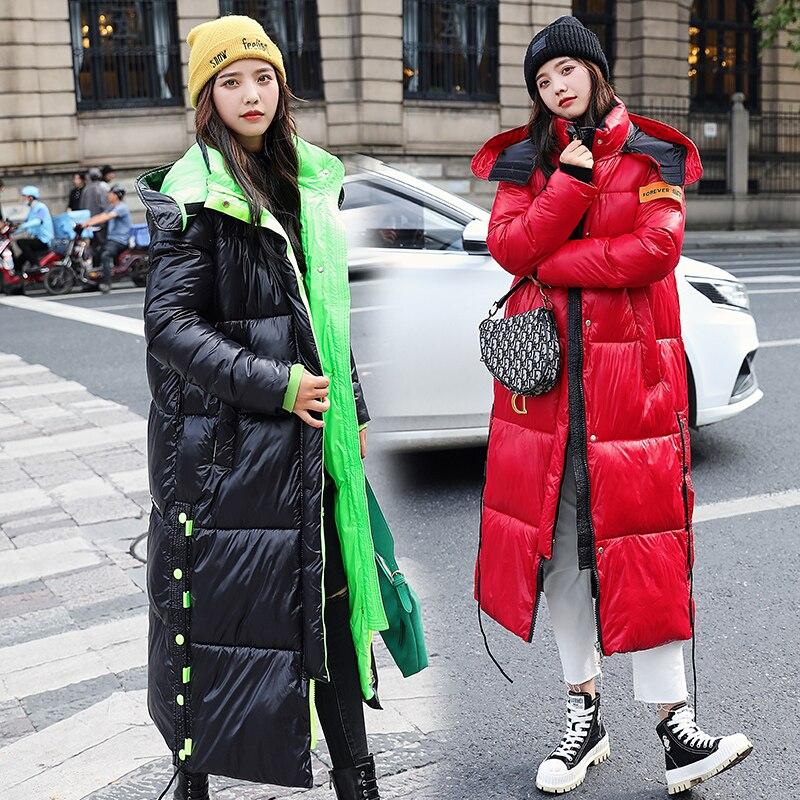 Lieurhjh-جاكيت شتوي نسائي بغطاء للرأس ، قطن سميك غير رسمي ، ملابس خارجية دافئة ، مجموعة جديدة 2020
