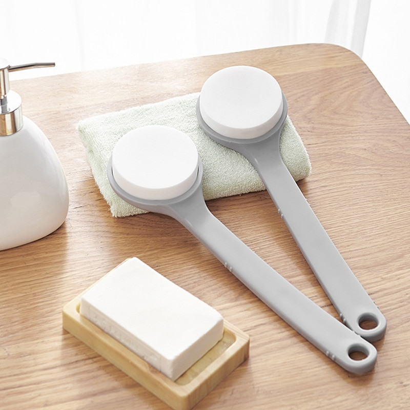 Handle Exfoliating Bath Sponge Back Scrubber Bathroom Body Brush Exfoliation Cleaning Equipment Show