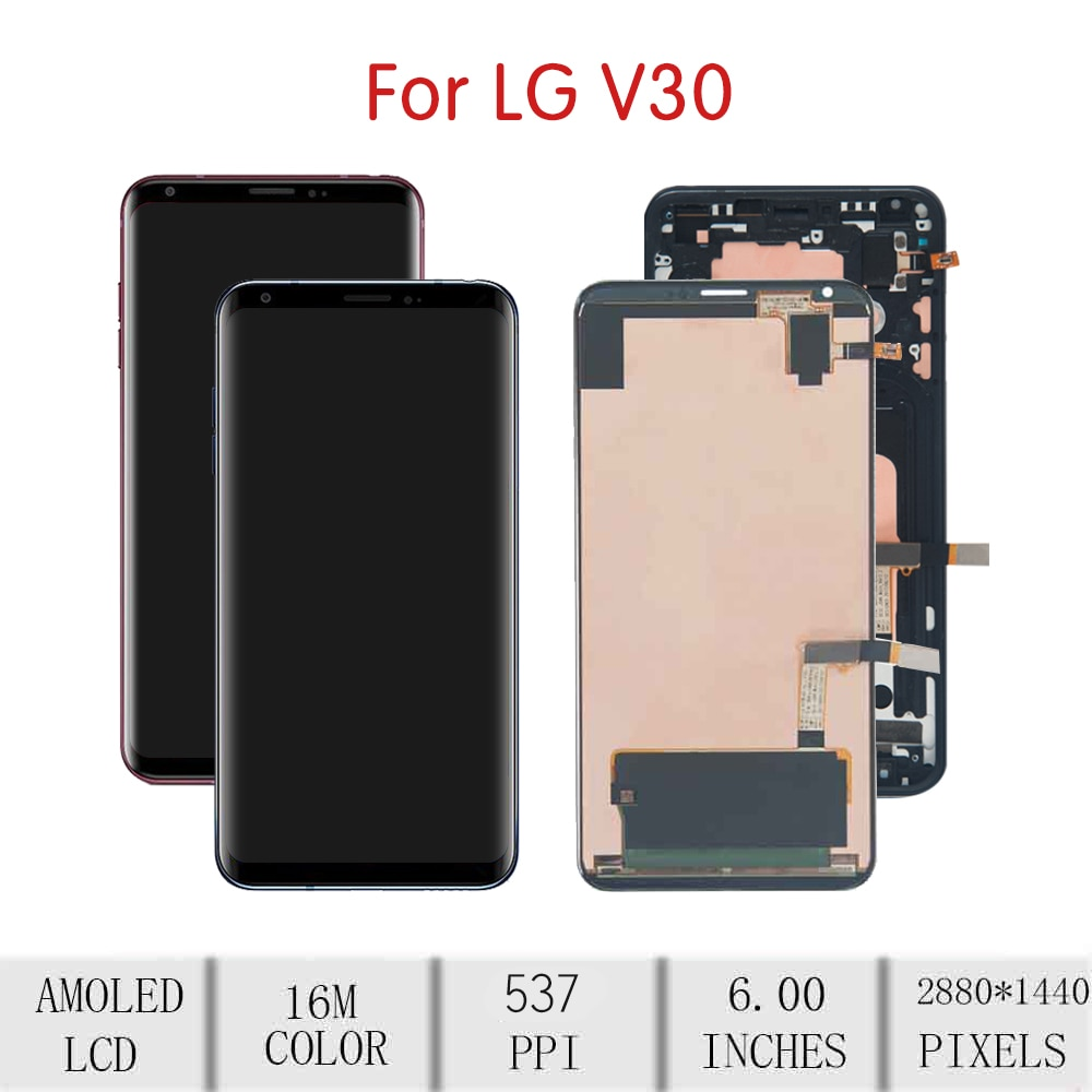 """6.0""""ORIGINAL For LG V30 LCD Touch Screen Digitizer Assembly For LG V30 Display with Frame Replacement H930 VS996 US998 LS998U enlarge"""
