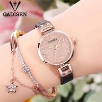cadisen 2021 new womens watches ladies luxury brand watch fashion lady quartz wristwatch gold sapphire crystal dial reloj mujer