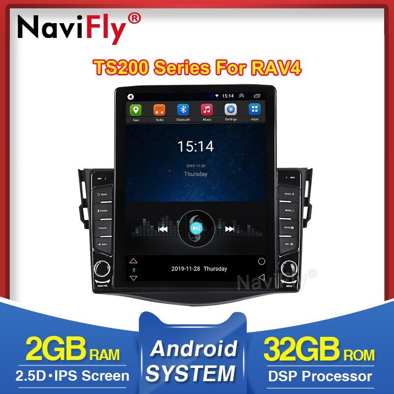 Navifly Tesla styl For Toyota RAV4 3 XA30 2005 2013 Navigation gps Car Radio Multimedia Video Player Android 8.1 No 2 din dvd