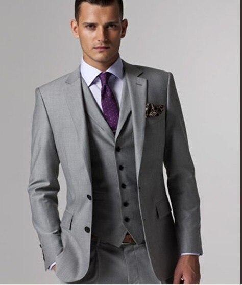 New Arrival Two Buttons Groomsmen Notch Lapel Groom Tuxedos Men Suits Wedding/Prom Best Man Blazer ( Jacket+Pants+Vest+Tie) B147