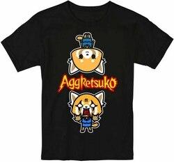 Новый Aggretsuko Sanrio аниме Netflix Fire Inside Мужская футболка Размер S-2Xl брендовая одежда футболка