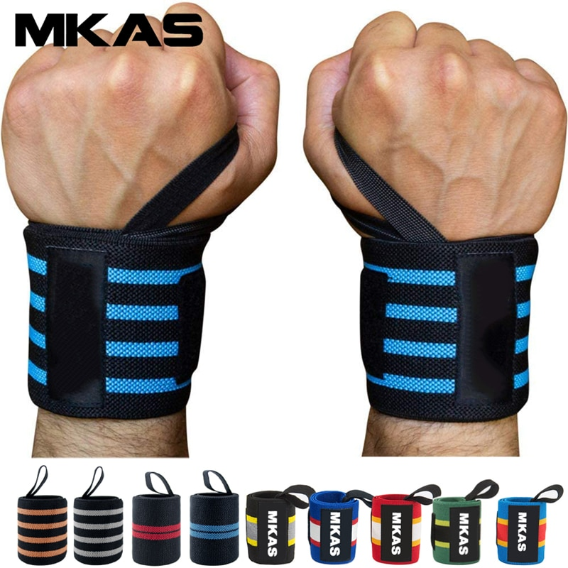 2pcs weight lifting straps over 2 3mm thick strong cotton gym padded hand bar grip with wrist support weight lifting gloves MKAS 1pair Wrist Wrap Weight Lifting Gym Cross Training Fitness Padded Thumb Brace Strap Power Hand Support Bar Wristband