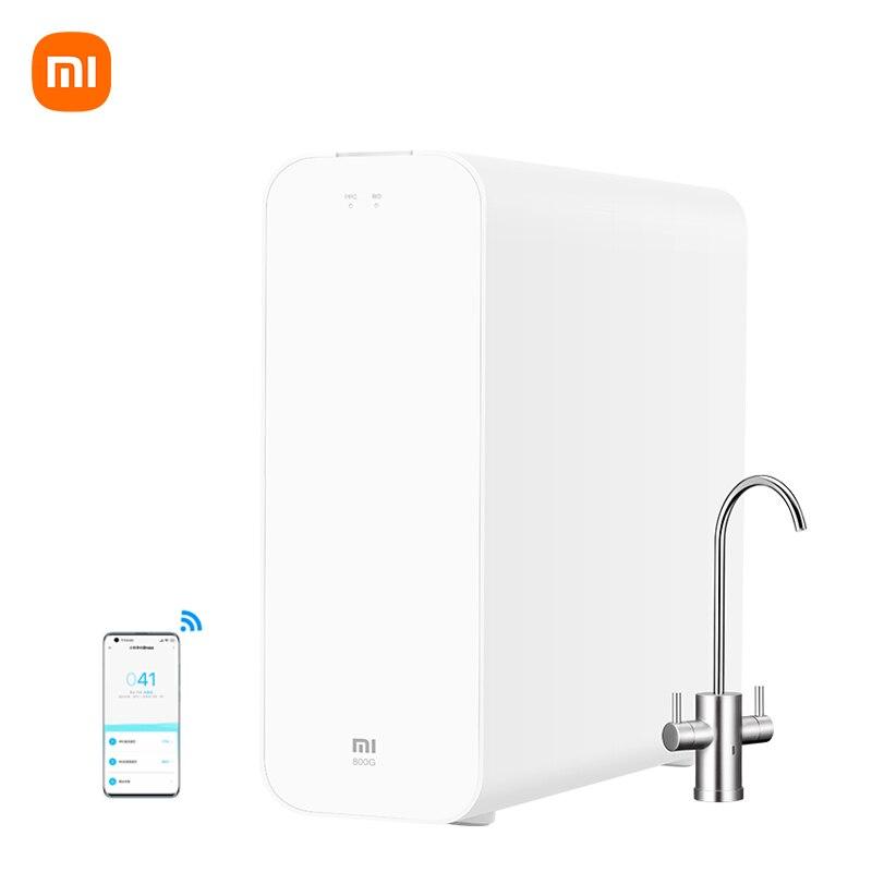 شاومي Mijia H800G تنقية المياه الذكية تصفية المياه التناضح العكسي تحت المطبخ المنزلية المنزلية مياه الشرب موزع