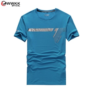 WWKK 2021 Summer Summer New Mens Gyms Breathable T shirt Fitness Bodybuilding Fashion Male Short Sports Clothing Tee Tops