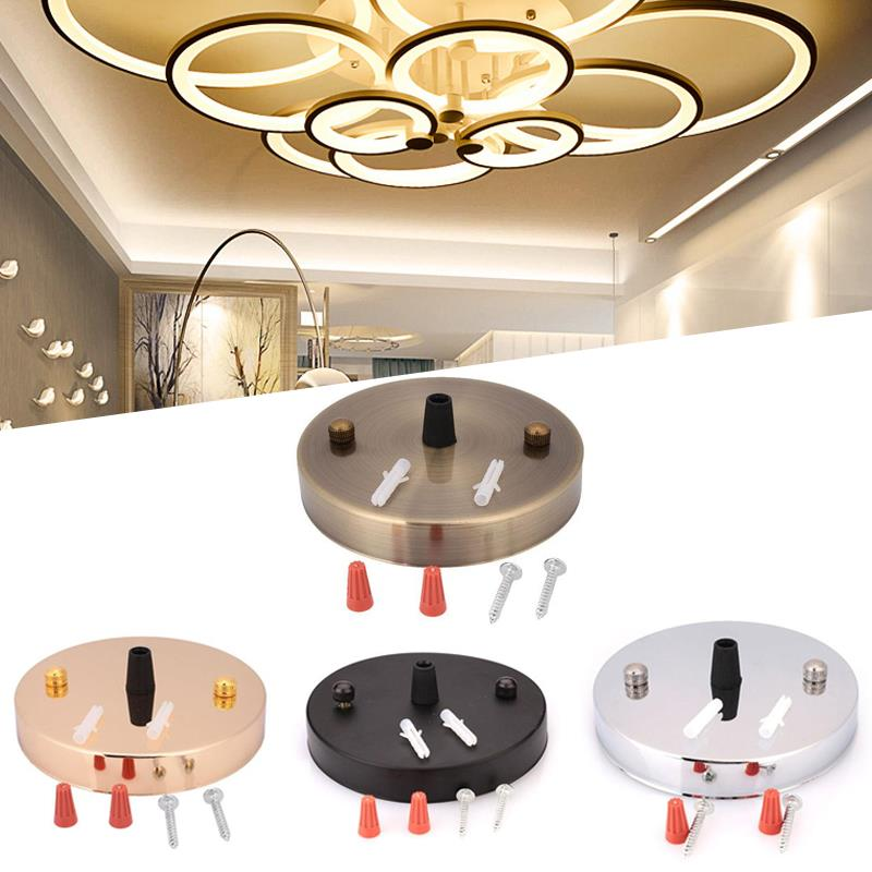 Luz 5 colgante de colores techo dosel accesorios Sconce DIY lámpara pared vintage Mount Dome