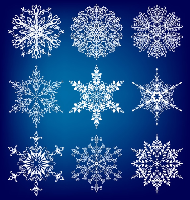 Azsg diferentes selos claros do floco de neve do natal para diy scrapbooking/cartão que faz artesanato decorativo do selo do silicone