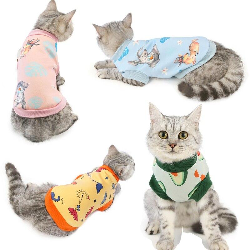Abrigo de invierno con estampado de perro pequeño, ropa cálida para mascotas para Chihuahua Shih Tzu, sudadera para cachorro, jersey de gato, ropa para mascotas