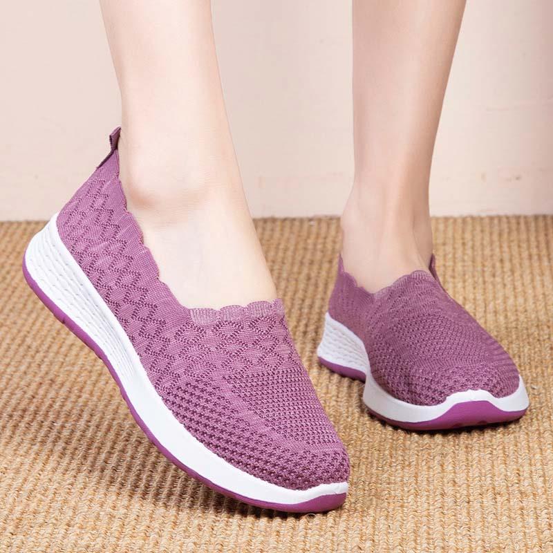 Zapatillas de deporte sin cordones párr mujer de zapatos de malla de...