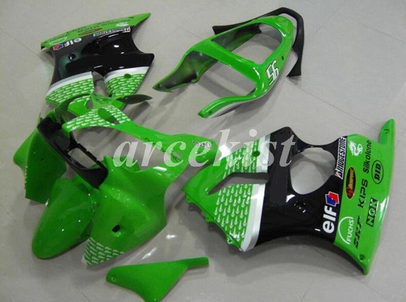 Nuevo ABS Kit de carenados de moto apto para kawasaki Ninja ZZR600 05 06 07 08 ZX-6R 636 6R 00 02 01 2000, 2001 el 2002 del cuerpo Verde Negro