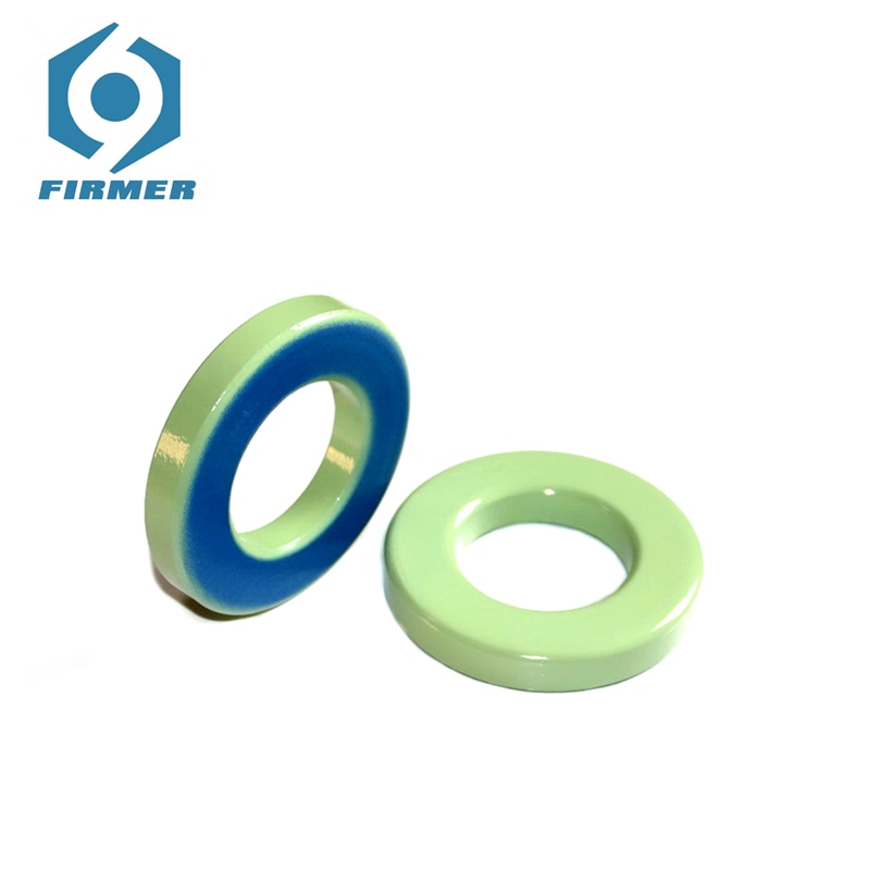 Núcleos de ferrita 102x57,2x16,5mm 1 pieza núcleo Toroidal choques de ferrita anillo Inductor de polvo de hierro anillos de ferrita verde claro azul