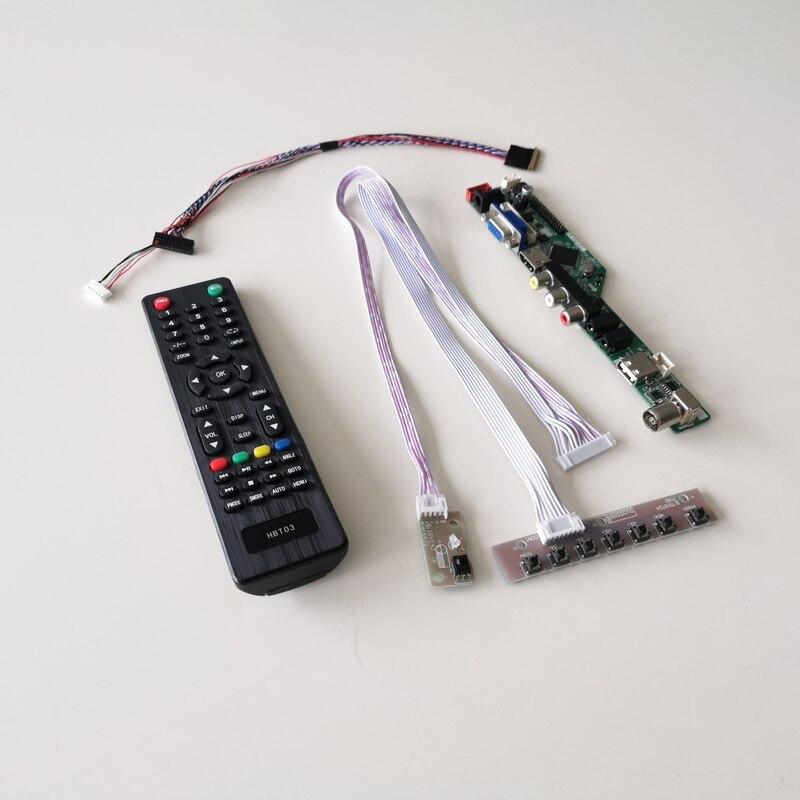 "Para B173RW01 V3 V4 V5 LVDS 40Pin W 1600*900 de 17,3 ""VGA + HDMI + AV + USB + RF notebook PC T V56 controlador de pantalla coche de DIY kit"